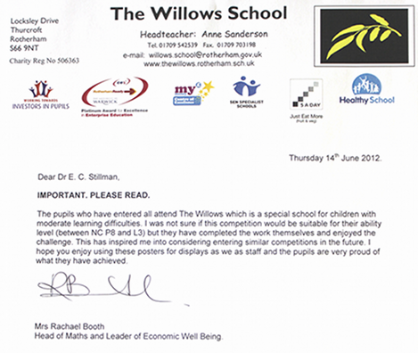 Letter of support 2012